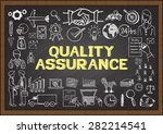 business doodles about quality... | Shutterstock .eps vector #282214541