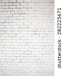 white brick wall for background ... | Shutterstock . vector #282225671