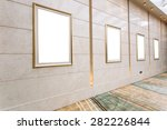 empty picture frames on the wall | Shutterstock . vector #282226844