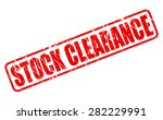 stock clearance red stamp text... | Shutterstock .eps vector #282229991