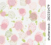 cupcakes pattern  vector format ... | Shutterstock .eps vector #282231479