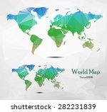 world map illustration low poly | Shutterstock .eps vector #282231839