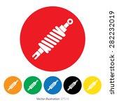 set of shock absorber icon. | Shutterstock .eps vector #282232019