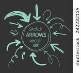 sketch arrows vector set | Shutterstock .eps vector #282232139