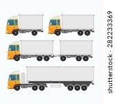 trailer mock up | Shutterstock .eps vector #282233369