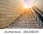 Stone Stairs  In The Morning