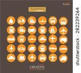 transport icons transportation...   Shutterstock .eps vector #282239264