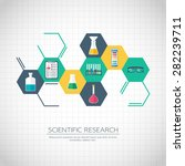 research concept. chemical... | Shutterstock .eps vector #282239711