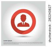 male user icon  circle long... | Shutterstock .eps vector #282243827