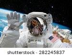 astronaut on space mission with ... | Shutterstock . vector #282245837