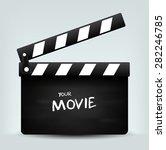 movie clapper board | Shutterstock .eps vector #282246785