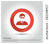 male user icon  circle long... | Shutterstock .eps vector #282248927