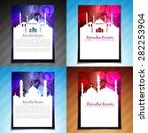 vector set of ramadan kareem... | Shutterstock .eps vector #282253904