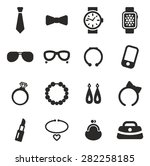 accessories icons | Shutterstock .eps vector #282258185