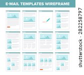 e mail templates design layout. | Shutterstock .eps vector #282258797