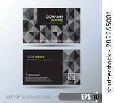 business card set | Shutterstock .eps vector #282265001