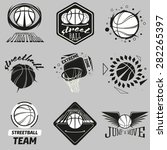 streetball and basketball... | Shutterstock . vector #282265397