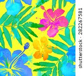 vivid colors bright tropical... | Shutterstock .eps vector #282267581