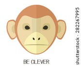 monkey flat head | Shutterstock .eps vector #282267995