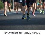 marathon runners   Shutterstock . vector #282275477