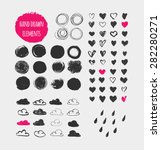 hand drawn shapes  icons ... | Shutterstock .eps vector #282280271