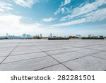 empty square and floor with sky | Shutterstock . vector #282281501