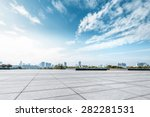 empty square and floor with sky | Shutterstock . vector #282281531