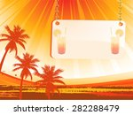 abstract palm tree background... | Shutterstock .eps vector #282288479
