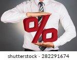 adult businessman holding 3 d... | Shutterstock . vector #282291674