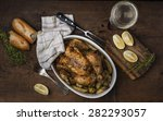 Roast Chicken With Potatoes On...