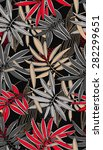 leaves of palm tree. seamless... | Shutterstock .eps vector #282299651