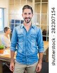 smiling man looking at camera...   Shutterstock . vector #282307154