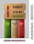 realistic cinema infographics... | Shutterstock .eps vector #282315101