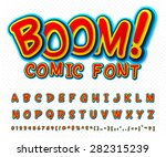 creative high detail comic font.... | Shutterstock .eps vector #282315239