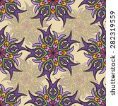 seamless pattern ethnic style.... | Shutterstock .eps vector #282319559