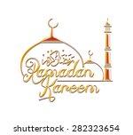ramadan mosque with ramadan... | Shutterstock . vector #282323654