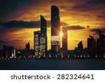 View Of Abu Dhabi Skyline At...