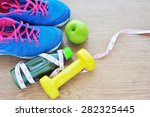 set for sports activities and... | Shutterstock . vector #282325445