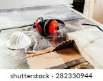 protective wear for carpentry ... | Shutterstock . vector #282330944