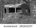 Old Vintage Caravan Left And...