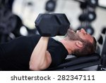 adult man with weight training... | Shutterstock . vector #282347111