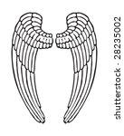 angel wings male style | Shutterstock .eps vector #28235002