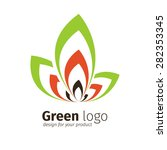 eco green logo template | Shutterstock .eps vector #282353345