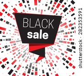 black sale design template on... | Shutterstock .eps vector #282353591