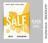 abstract creative sale flyers ... | Shutterstock . vector #282356195