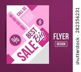 abstract creative sale flyers ... | Shutterstock . vector #282356231
