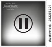 pause button vector icon | Shutterstock .eps vector #282358124