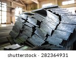 stacked aluminum metal sheets.... | Shutterstock . vector #282364931