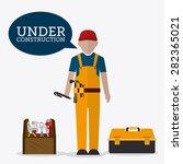 under construction design over... | Shutterstock .eps vector #282365021