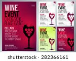 design for wine event. suitable ... | Shutterstock .eps vector #282366161